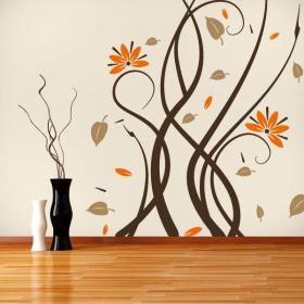 Decorative vinyl walls Multicolor flowers