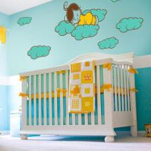 Luminescent panels dividing fluowall sweet children's dreams