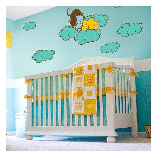 Luminescent panels dividing fluowall sweet children's dreams