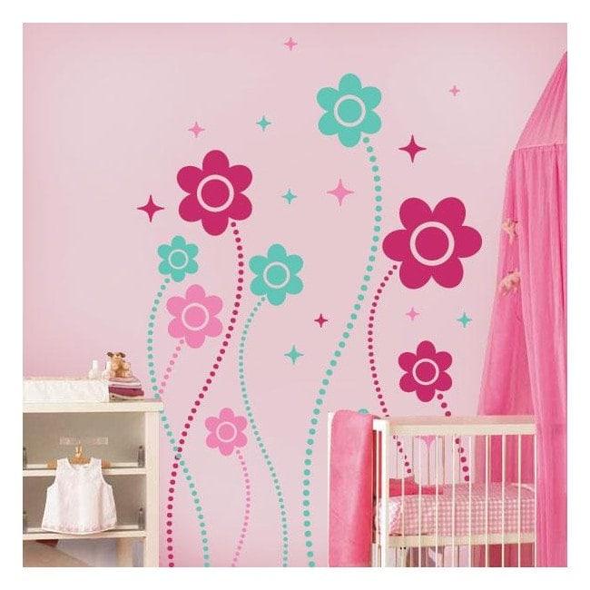 Decorative vinyl wall Floral Fantasy