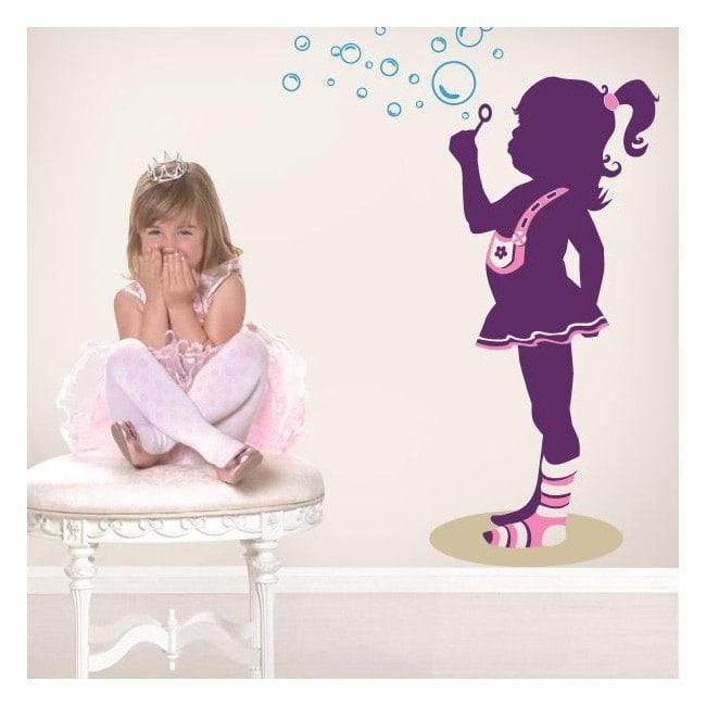 Decorative vinyl child tenderness English 743