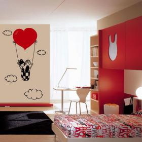 Vinyl decorative love in the clouds