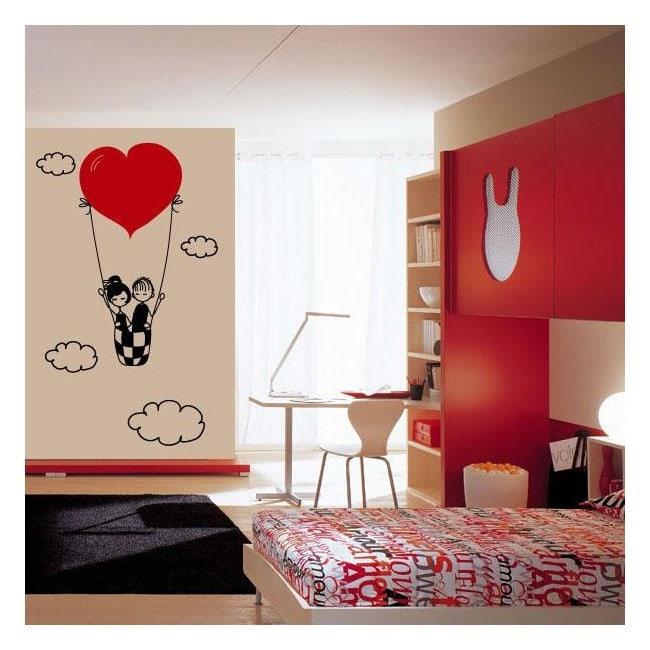 Vinyl decorative love in the clouds