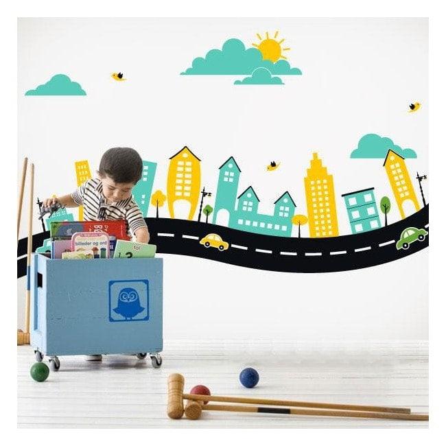 Decorative vinyl child city