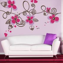 Decorative vinyl hearts and flowers English 757