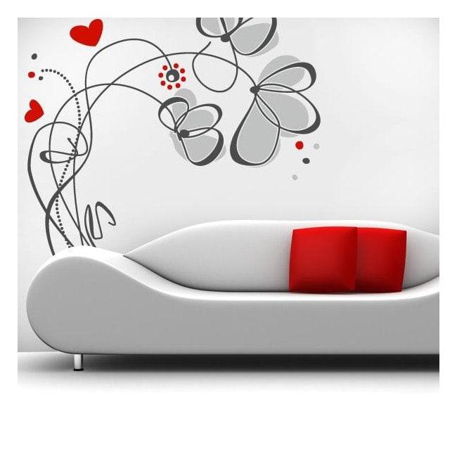 Decorative vinyl flowers Love English 759