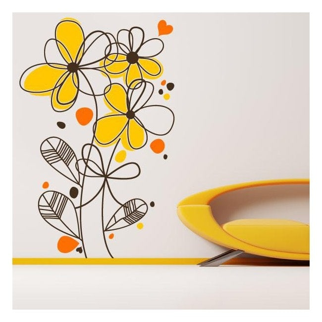 Decorative vinyl romantic flowers English 760