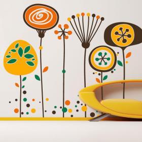 Vinyl decorative flowers of paradise