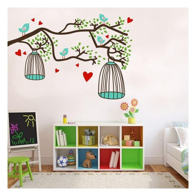Nature color wall stickers