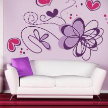 Romantic flower wall stickers English 770