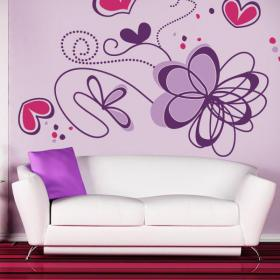 Romantic flower wall stickers