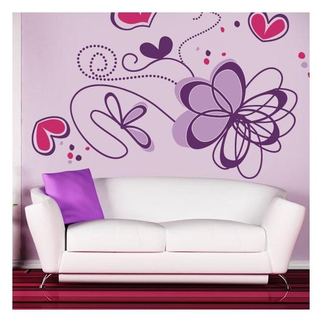 Romantic flower wall stickers English 770
