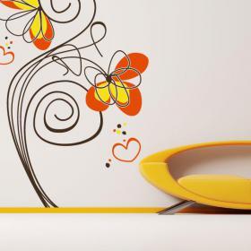 Vinyl decorative flowers of love