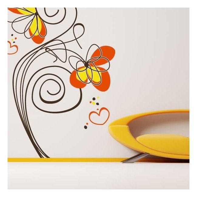 Vinyl decorative flowers of love English 771