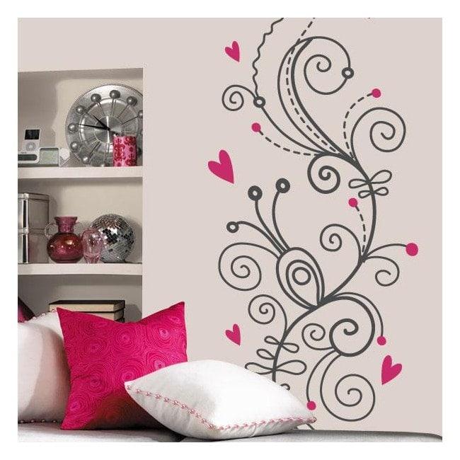 Vinyl flowers of the heart