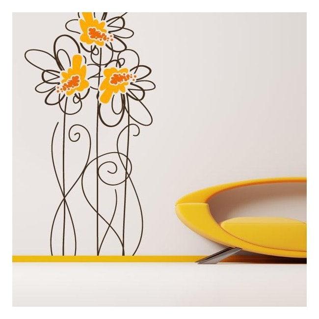 Vinyl nature art Floral