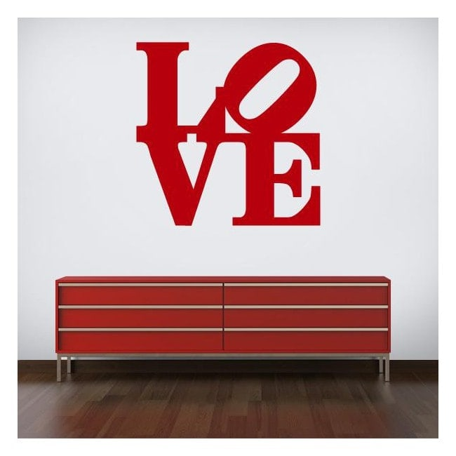 Decorative Vinyl Love Robert Indiana