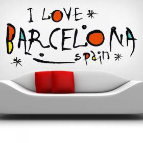 Vinyl I Love Barcelona Spain