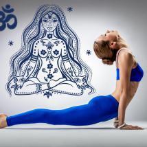 Luminescent panels dividing fluowall relaxation meditation Yoga