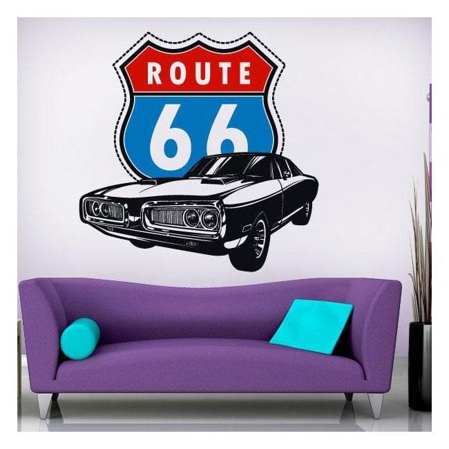 Decorative vinyl route 66 English 826