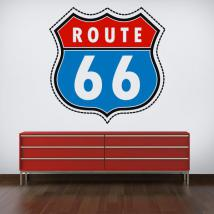 Vinyl sticker route 66