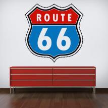 Vinyl sticker route 66