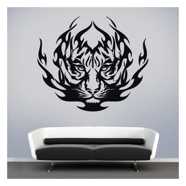 Vinyl animal Tribal Tiger