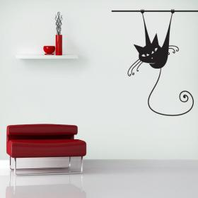 Animals vinyl hanging cat