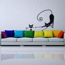 Vinyl stickers cats walls