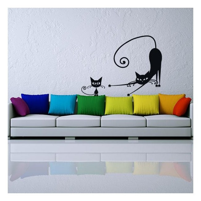 Vinyl stickers cats walls