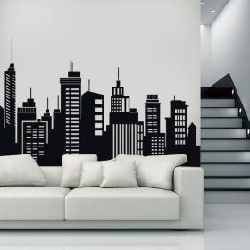 Decorative vinyl buildings cities