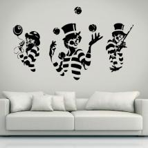 Vinyl silhouettes mimes