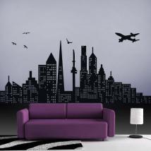 Decorative vinyl city