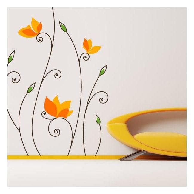 Vinyl flower charm