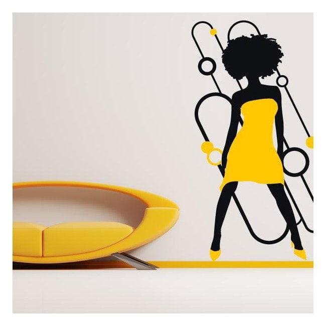 Vinyl decorative silhouette woman Soul