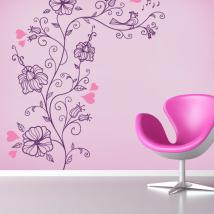 Romantic flower stickers and vinyl