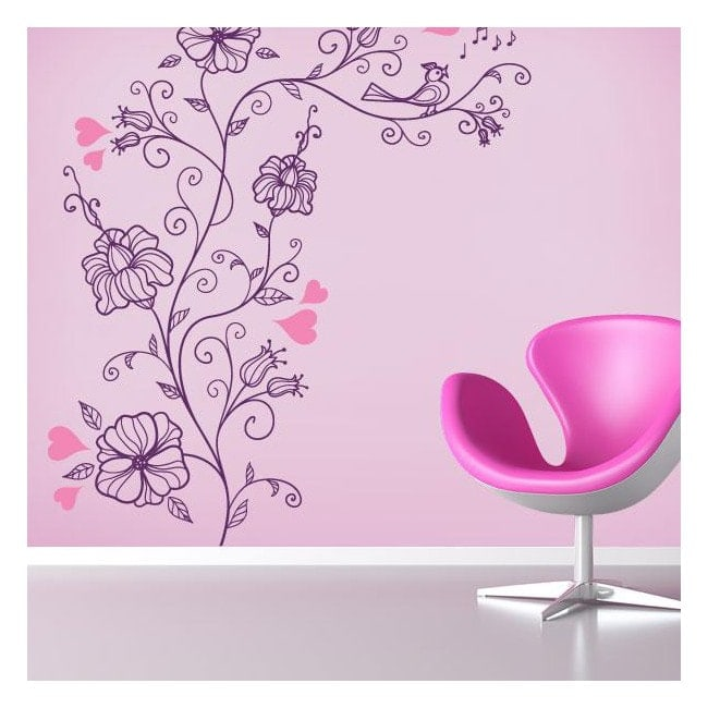 Romantic flower stickers and vinyl