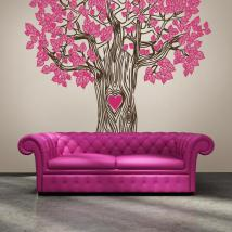 Vinyl decorative tree of love