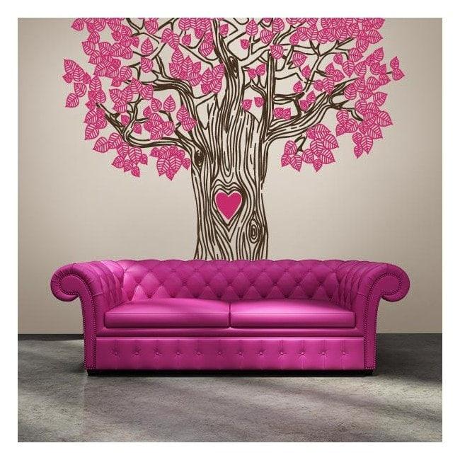 Vinyl decorative tree of love