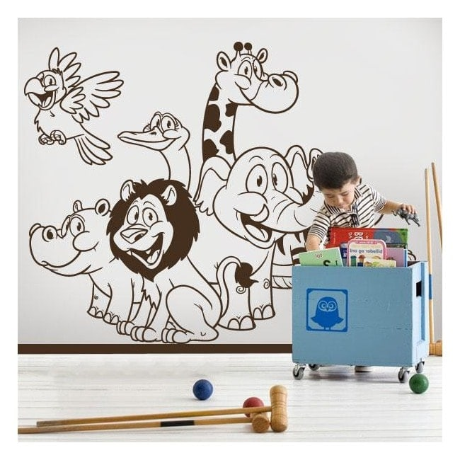 Zoo animals children's vinyl