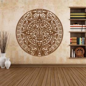 Vinyl decorative stone of the Aztec calendar Sun