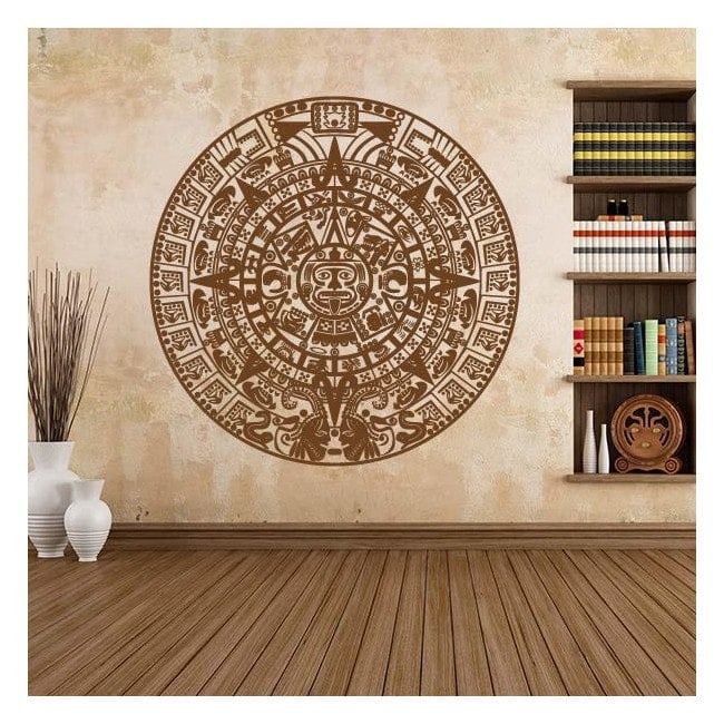 Vinyl decorative stone of the Aztec calendar Sun