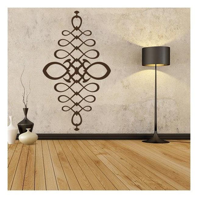 Vinyl adhesive decorative filigree