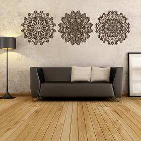 Vinyl decorative rosettes