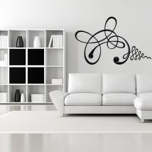 Vinyl adhesive decorative strokes