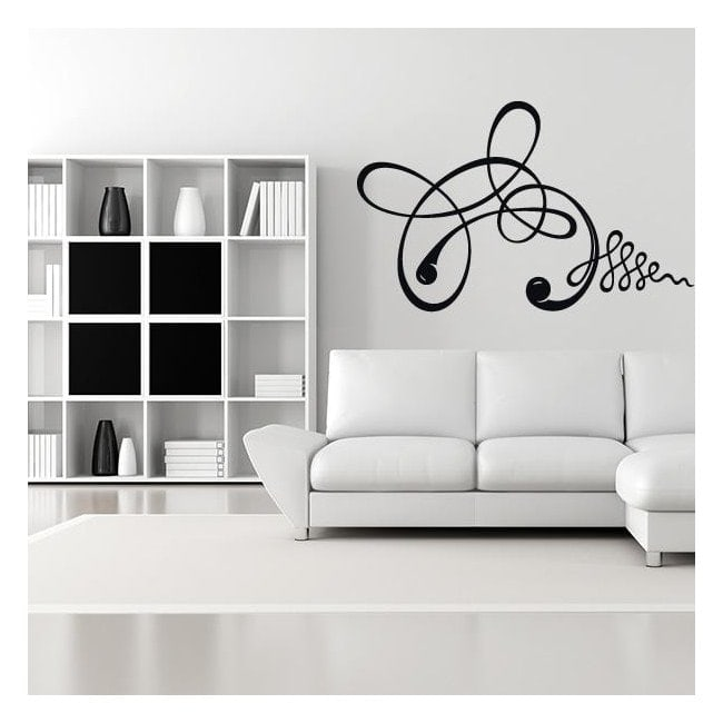 Vinyl adhesive decorative strokes