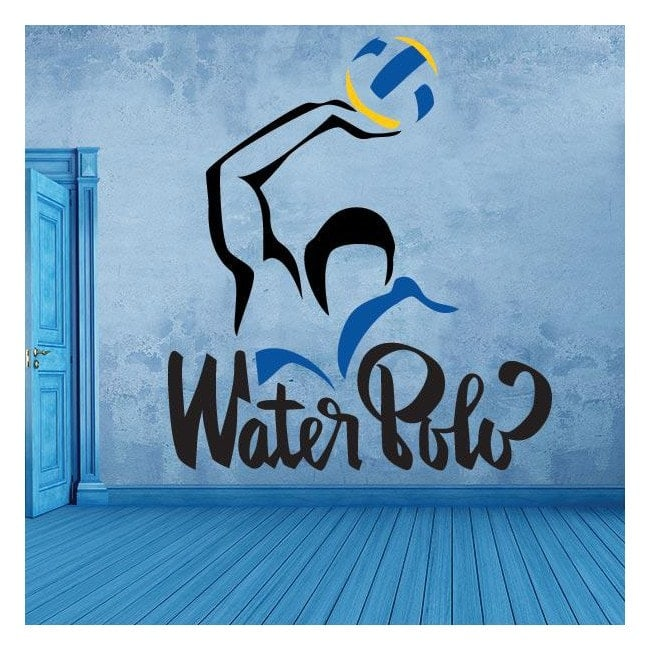 Decorative vinyl stickers and stickers water polo