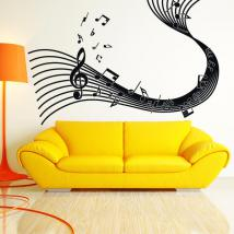 Adhesive vinyl stave musical notes