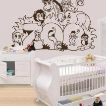 Children's decorative vinyl Zoo animals