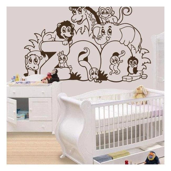 Children's decorative vinyl Zoo animals